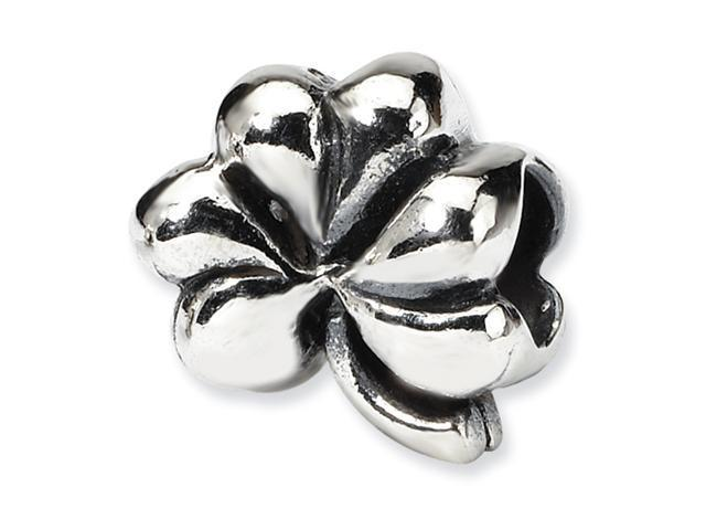 Sterling Silver SimStars Reflections Clover Bead