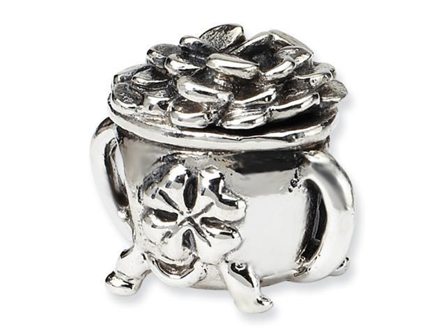 Sterling Silver SimStars Reflections Pot-of-Gold Bead