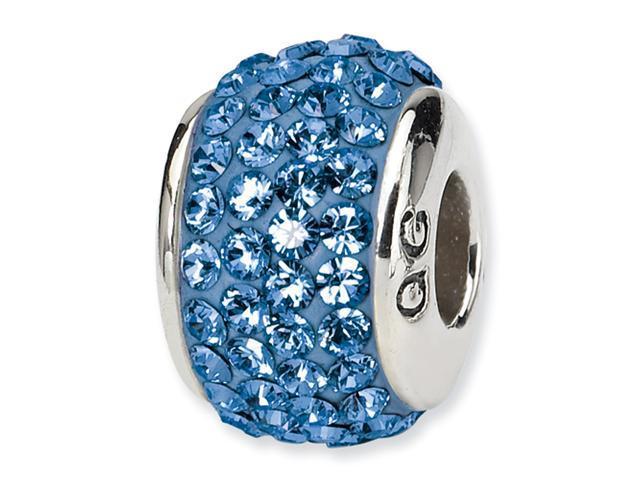 Sterling Silver SimStars Reflections September Full Swavorski Crystal Bead