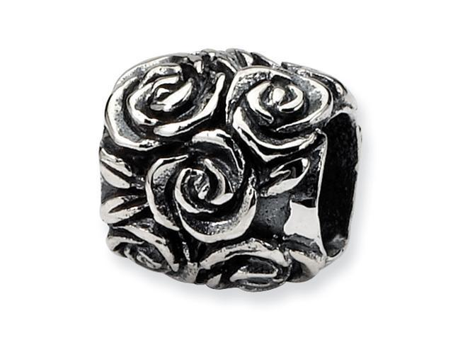 Sterling Silver SimStars Reflections Kids Floral Bali Bead