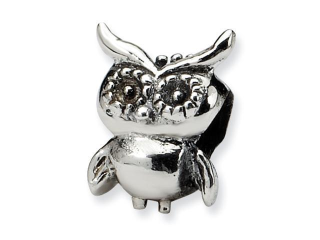 Sterling Silver SimStars Reflections Kids Owl Bead