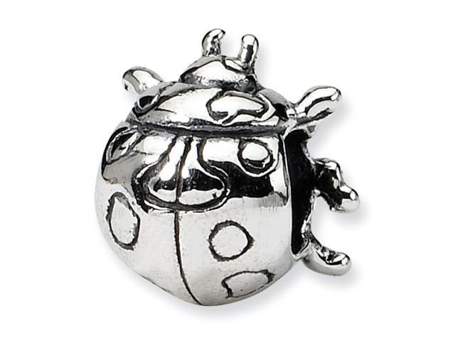 Sterling Silver SimStars Reflections Kids Ladybug Bead