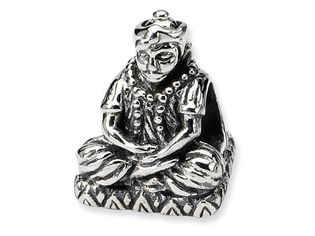 Sterling Silver SimStars Reflections Buddha Bead