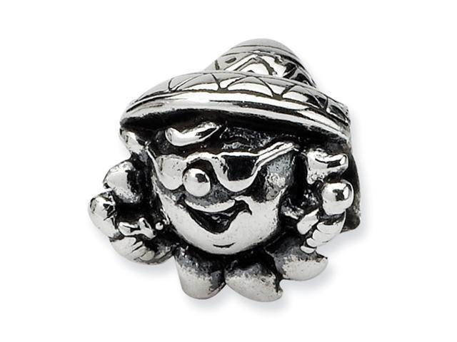 Sterling Silver SimStars Reflections Kids Clown Bead
