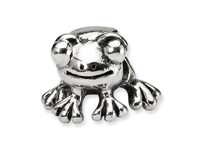 Sterling Silver SimStars Reflections Frog Bead