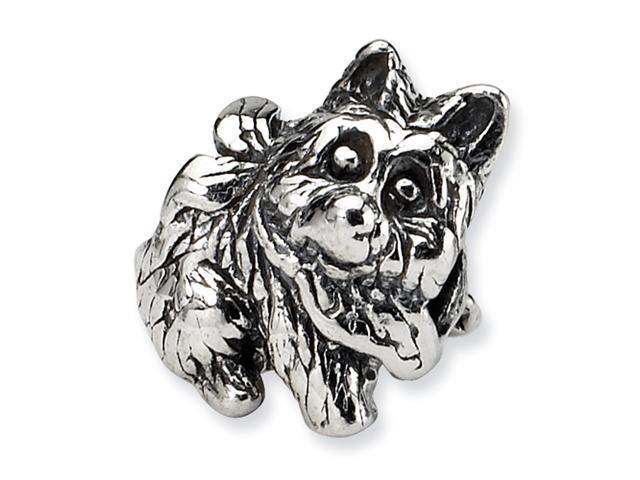 Sterling Silver SimStars Reflections Kids Dog Bead