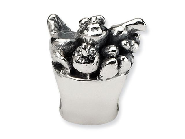 Sterling Silver SimStars Reflections Fruit Bowl Bead