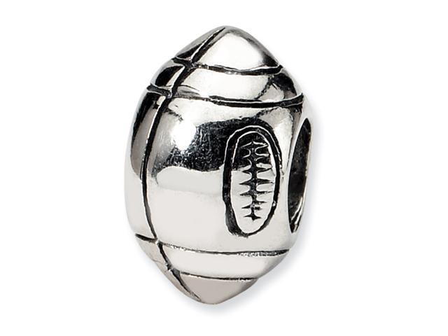Sterling Silver SimStars Reflections Football Bead