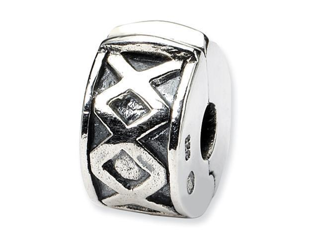 Sterling Silver SimStars Reflections Hinged X Clip Bead