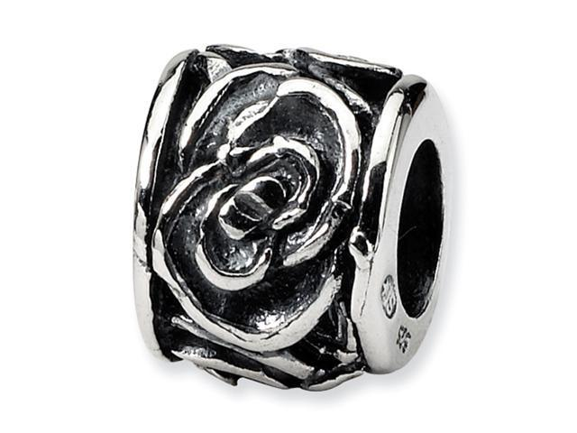 Sterling Silver SimStars Reflections Floral Bead