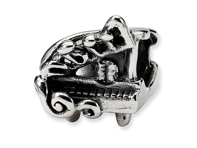 Sterling Silver SimStars Reflections Baby Grand Piano Bead