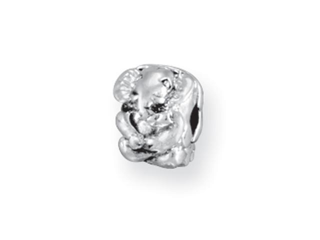 Sterling Silver SimStars Reflections Kids Elephant Clip Bead