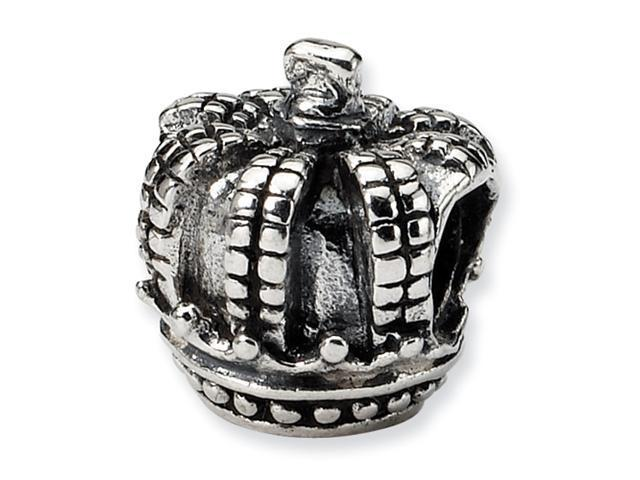 Sterling Silver SimStars Reflections Kids Crown Bead