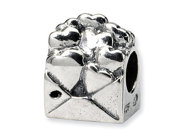 Sterling Silver SimStars Reflections Kids Love Note Bead