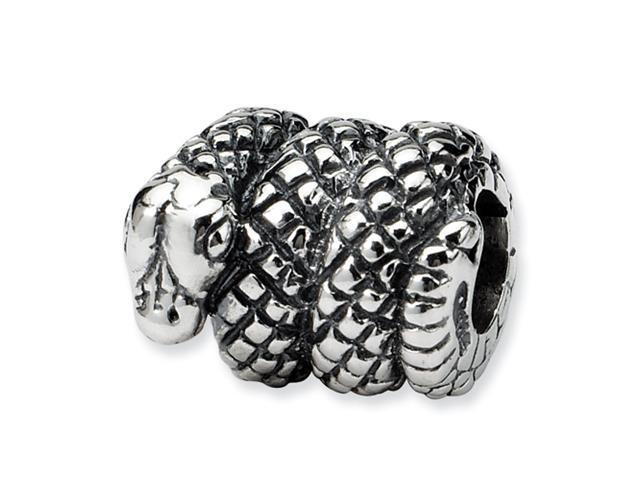 Sterling Silver SimStars Reflections Snake Bead