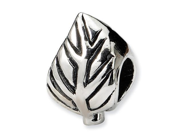 Sterling Silver SimStars Reflections Leaf Design Bead