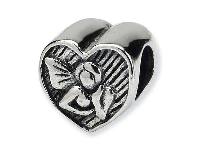 Sterling Silver SimStars Reflections Angel Heart Bead