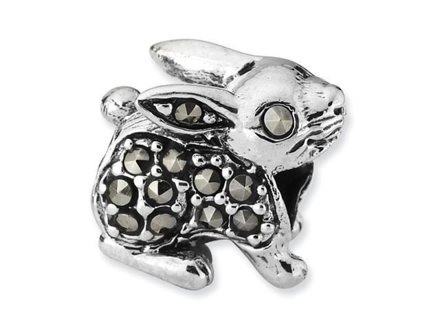 Sterling Silver SimStars Reflections Marcasite Rabbit Bead