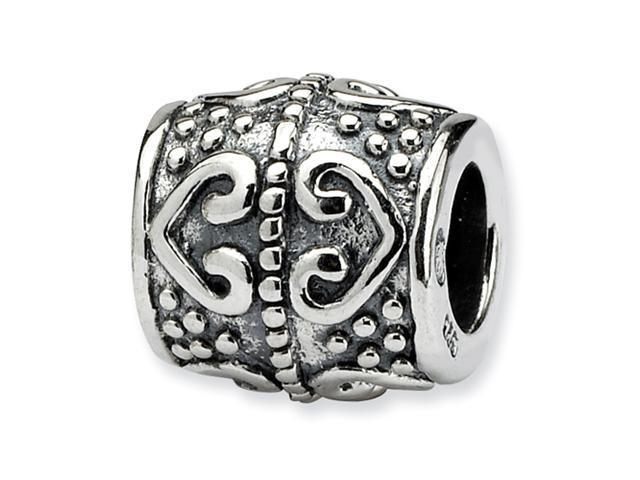 Sterling Silver SimStars Reflections Heart Bead
