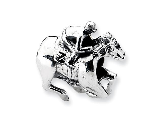Sterling Silver SimStars Reflections Race Horse Bead
