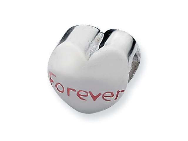 Sterling Silver SimStars Reflections Forever Heart Bead