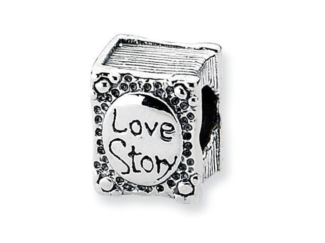 Sterling Silver Refelections Love Story Book Bead