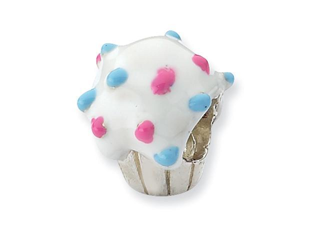 Sterling Silver Refelections Enameled Cupcake Bead
