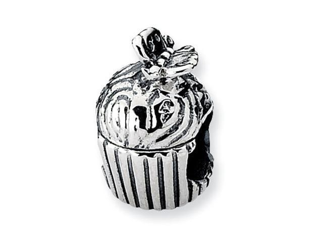Sterling Silver Refelections Cupcake with Butterfly Bead