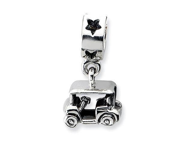 Sterling Silver Refelections Golf Cart Dangle Bead