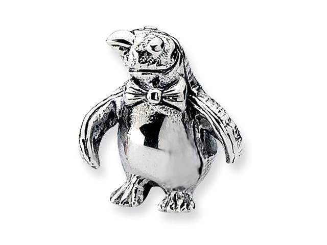 Sterling Silver SimStars Reflections Penguin Bead
