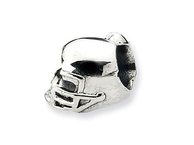 Sterling Silver SimStars Reflections Football Helmet Bead