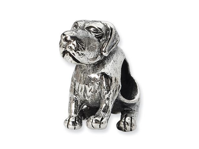 Sterling Silver SimStars Reflections German Shorthaired Pointer Bead
