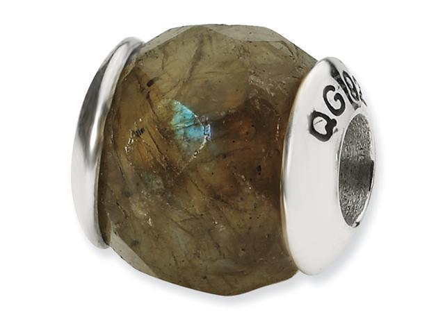 Sterling Silver SimStars Reflections Labradorite Stone Bead