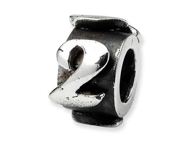 Sterling Silver SimStars Reflections Number 2 MeSterling Silverage Bead
