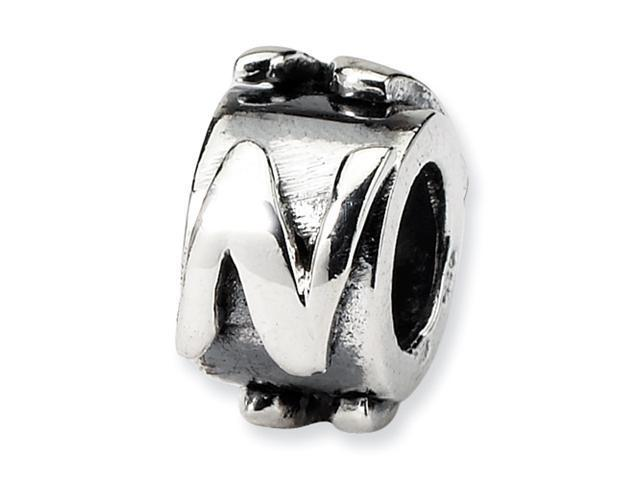 Sterling Silver SimStars Reflections Letter N MeSterling Silverage Bead