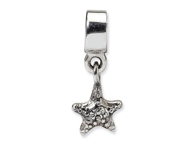 Sterling Silver SimStars Reflections Kids Starfish Dangle Bead