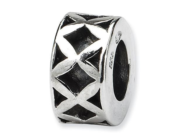 Sterling Silver SimStars Reflections X Spacer Bead