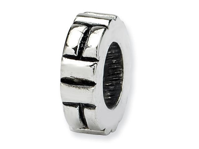 Sterling Silver SimStars Reflections Notched Spacer Bead