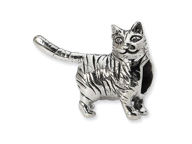 Sterling Silver SimStars Reflections American Shorthair Cat Bead