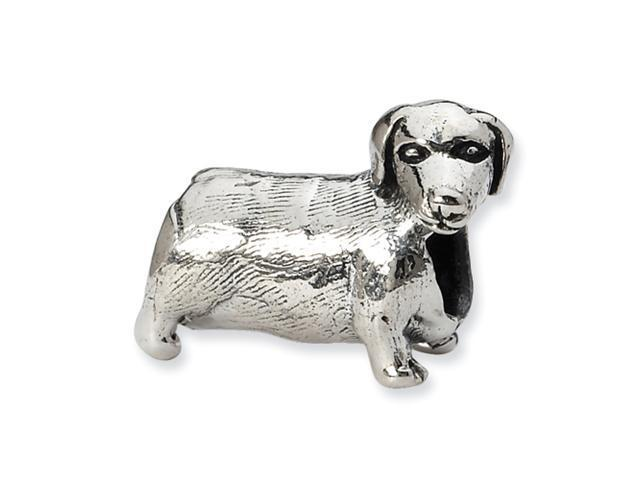 Sterling Silver SimStars Reflections Dachshound Bead