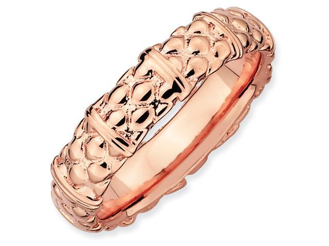 Sterling Silver Stackable Expressions Pink-plated Ring