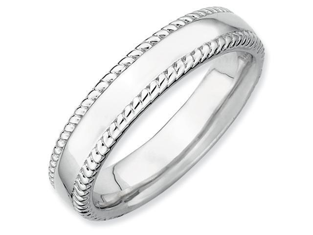 Sterling Silver Stackable Expressions Rhodium Ring