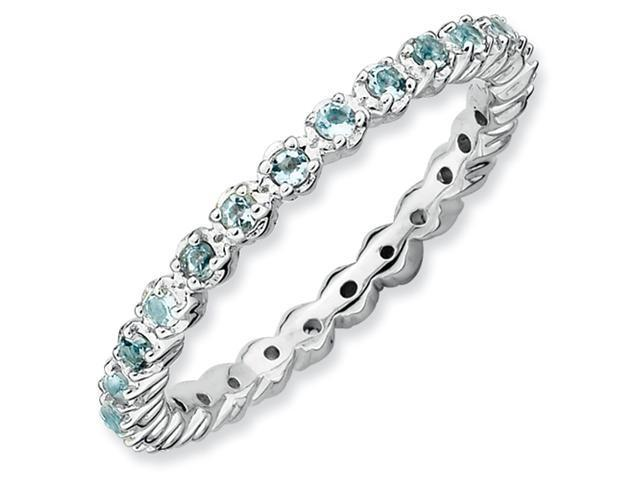Sterling Silver Stackable Expressions Aquamarine Ring