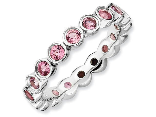 Sterling Silver Stackable Expressions Pink Tourmaline Ring