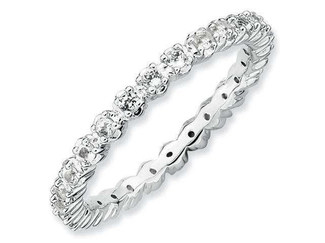 Sterling Silver Stackable Expressions White Topaz Ring