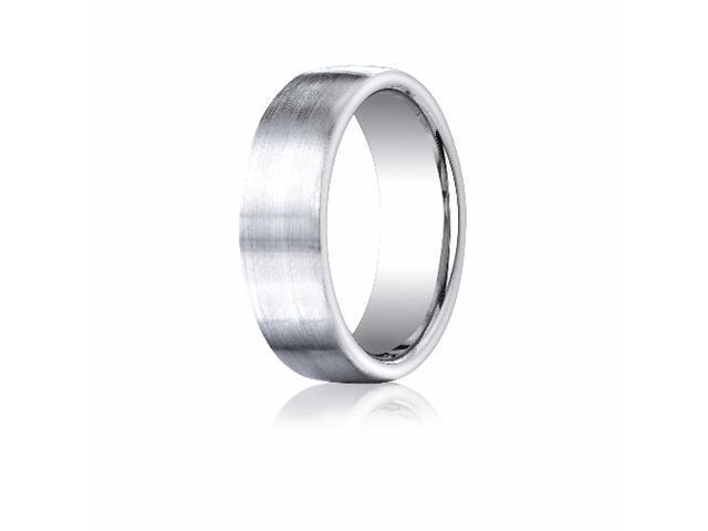 Cobaltchrome™ 7.5mm Comfort-Fit Satin-Finished Design Ring