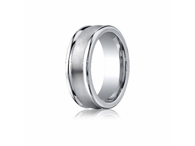 Cobaltchrome™ 8mm Comfort-Fit Satin-Finished Round Edge Design Ring