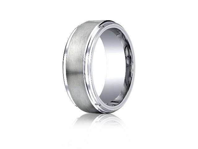 Cobaltchrome™ 9mm Comfort-Fit Satin-Finished Stair-Step Edge Design Ring