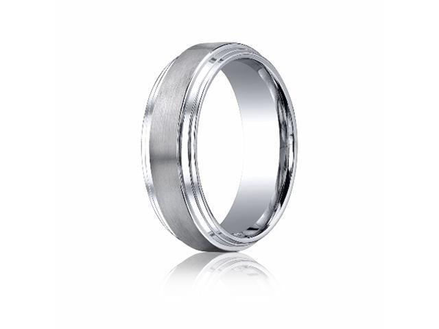 Cobaltchrome™ 8mm Comfort-Fit Satin-Finished Double Edge Design Ring