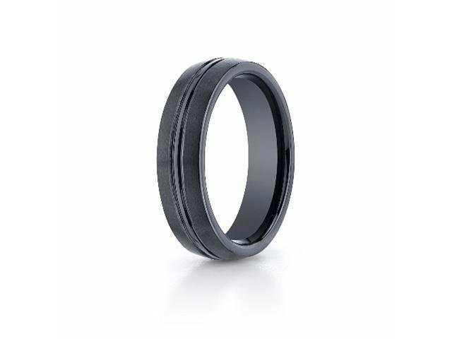 Ceramic 6mm Comfort-Fit Satin-Finished Design Ring